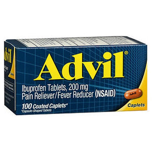 Advil Pain Reliever And Fever Reducer 100 Caplets by Advil (2587494285397)