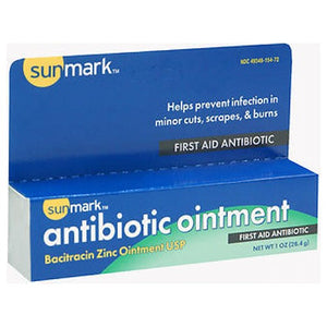Sunmark First-Aid Antibiotic Ointment 1 oz by Sunmark (2587496448085)