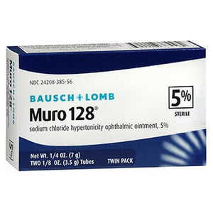 Bausch And Lomb Muro 128 5% Sterile Ophthalmic Eye Ointment 2 pack by Bausch And Lomb