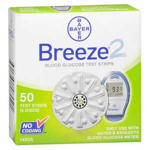 Bayer Ascensia Breeze 2 Blood Glucose Test Strips 50 ct by Bayer (2587994062933)
