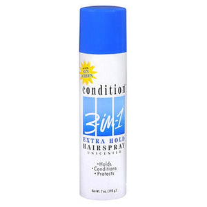 Condition 3-In-1 Hairspray Aerosol Extra Hold Unscented 7 Oz by Condition