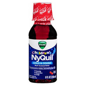 Vicks Childrens Nyquil Cold Cough Multi-Symptom Relief Liquid Cherry 8 Oz by Vicks
