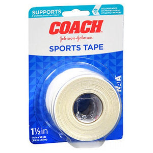Johnson & Johnson Coach Sports Tape 1.5X10YD 1 each by Johnson & Johnson (2587995897941)