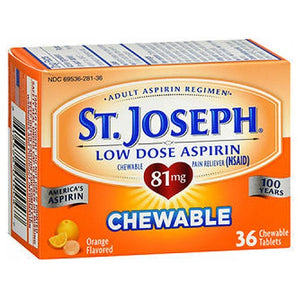 St. Joseph Aspirin Chewable Orange 36 tabs by St. Joseph (2587504083029)