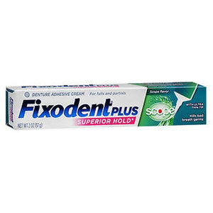 Fixodent Control Denture Adhesive Cream Plus Scope Flavor 2 Oz by Crest