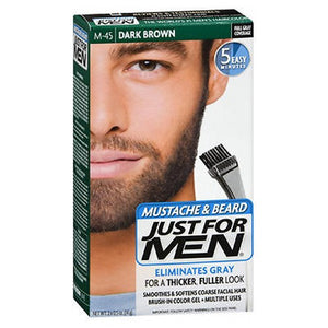 Just For Men Color Gel Mustache Beard Dark Brown 1 each by Just For Men (2587997208661)