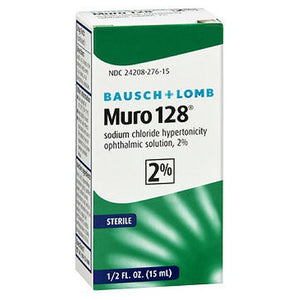 Bausch And Lomb Muro 128 2% Sterile Ophthalmic Eye Solution 0.5 oz by Bausch And Lomb