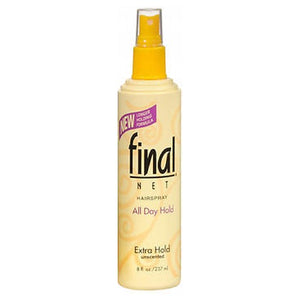 Final Net Hairspray Extra Hold Unscented, 8 Oz by Final Net (2587509653589)