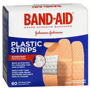 Band-Aid Plastic Strips Bandages 60 each by Johnson & Johnson (2587509751893)