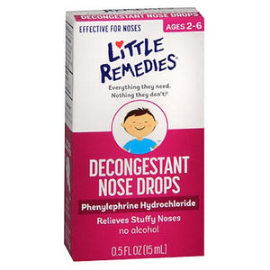 Litlle Remedies Decongestant Nose Drops 0.5 oz by Little Remedies (2587510112341)