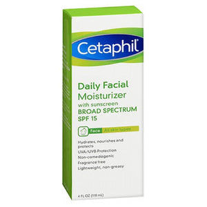 Cetaphil Daily Facial Moisturizer Spf 15 Fragrance free 4 oz by Cetaphil (2587510407253)