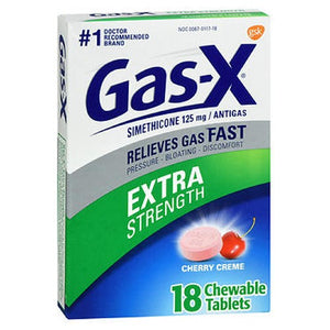 Gas-X Antigas Chewable Tablets Extra Strength Cherry 18 tabs by Novartis Consm Hlth Inc (2587511455829)