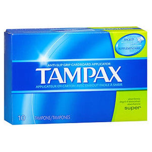 Tampax Tampons With Flushable Applicator Super Absorbency 10 each by Tampax