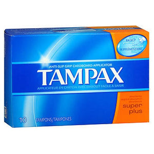Tampax Tampons With Flushable Applicator Super Absorbancy 10 each by Tampax