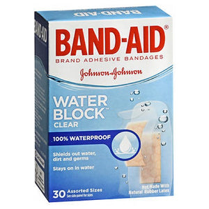 Band-Aid Water Block Plus Clear Transparent Adhesive Bandages 30 each by Band-Aid (2587512078421)