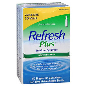 Refresh Plus Lubricant Eye Drops Single-Use Containers 50 ct by Refresh (2587512668245)