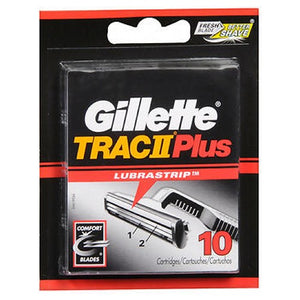 Gillette Trac Ii Plus Cartridges 10 each by Gillette
