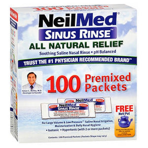 Neilmed Sinus Rinse Premixed Packets 120 each by Neilmed