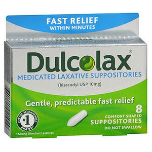 Dulcolax Laxative Suppositories 8 ct by Dulcolax