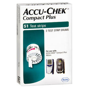 Accu-Chek Compact Diabetic Test Strips 51 each by Accu-Chek
