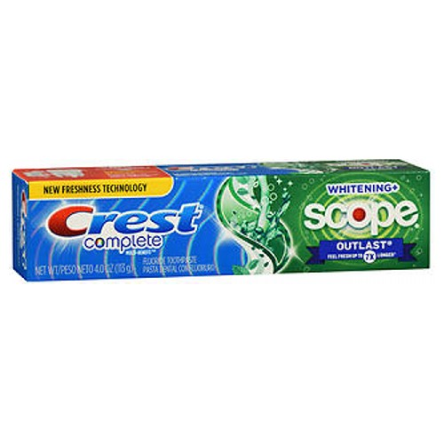 Crest Extra White Plus Scope Outlast Toothpaste Long Lasting Mint 4 oz by Crest