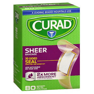 Curad Sheer Adhesive Bandages 3/4X3 Regular 80 Each by Curad (2587519254613)