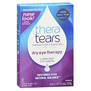 Theratears Lubricant Eye Drops Single Use Containers 32 X 0.2 oz by Theratears