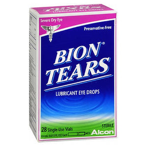 Bion Tears Lubricant Eye Drops Single Use Vials 28 vials by Bion Tears (2587520270421)