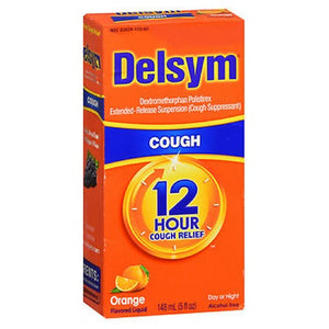 Delsym Adult 12 Hour Cough Relief Orange 5 oz by Airborne