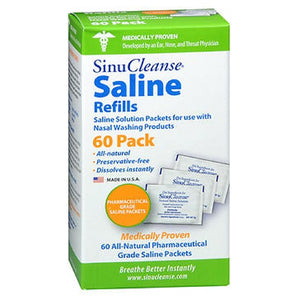 Sinucleanse Saline Refills 60 each by Sinucleanse