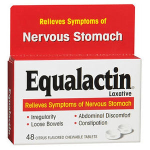 Equalactin Chewable Tablets Relieves Symptoms Of Nervous Stomach 48 tabs by Equalactin
