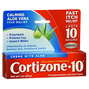 Cortizone-10 Maximum Strength Anti-Itch Creme With Aloe 1 oz by Cortizone-10 (2587527413845)