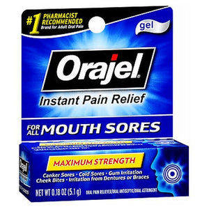 Orajel Mouth Sore Pain Relief Gel 0.18 oz by Arm & Hammer