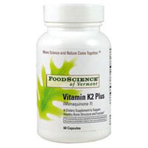 Vitamin K2 Plus 60 caps by Foodscience Of Vermont