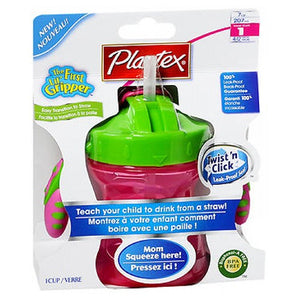 Playtex Baby First Lil' Gripper Twist 'n Click Straw Trainer Cup Stage 1, 6 oz by Playtex