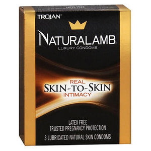 Trojan Naturalamb Natural Skin Lubricated Luxury Condoms 3 each by Trojan