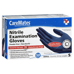 Caremates Nitrile-Pf Examination Gloves Small 50 each by Caremates