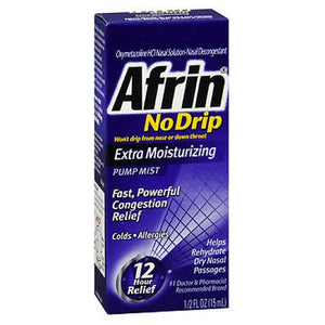 Afrin No Drip Pump Mist Extra Moisturizing 0.5 oz by Afrin