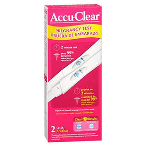Accu Clear Early Pregnancy Test 2 each by Accu-Clear (2587547795541)