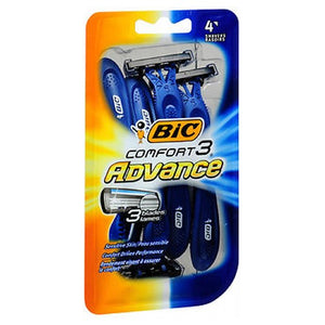 Bic Comfort 3 Advance Shavers For Men 4 each by Bic (2587548581973)
