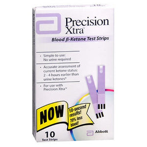 Precision Xtra Blood B-Ketone Test Strips 10 each by Precision Xtra (2587549794389)