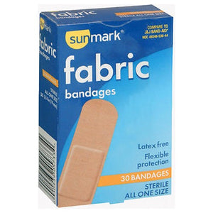 Sunmark Fabric Bandages All One Size 30 each by Sunmark (2587550253141)