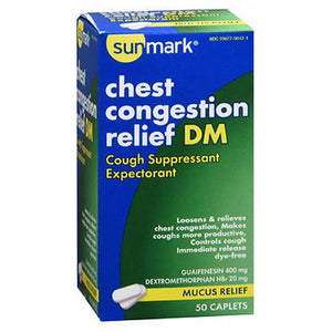 Sunmark Chest Congestion Relief Dm 50 tabs by Sunmark (2587551662165)