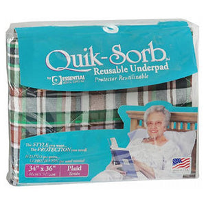 Essential Medical Supply Quik Sorb Underpad 34X36 Plaid 1 each by Essential Health Products