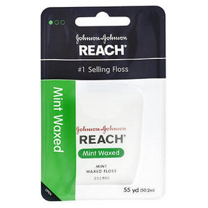 Reach Waxed Dental Floss Mint 55 Yards each by Johnson & Johnson (2587557101653)