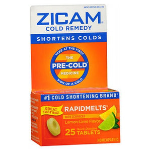 Zicam Cold Remedy Rapidmelts With Echinacea Lemon-Lime lemon-lime flavor 25 tabs by Zicam (2587558182997)