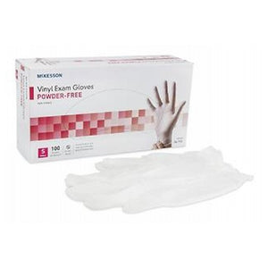 Synthetic Vinyl Gloves Powder Free Small 100 each by Cypress Medical Products