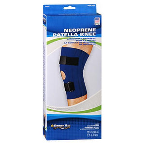 Sportaid Knee Brace Open Patella Blue Neoprene Large 15-17 inches 1 each by Scott Specialties