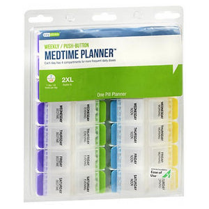 Ezy Dose Push Button 7-Day Medtime Planner Extra Large 1 each by Ezy-Dose (2587565752405)
