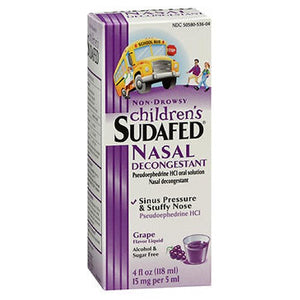 Sudafed Children's Non-Drowsy Grape Flavored Liquid 4 oz by Sudafed (2588069888085)
